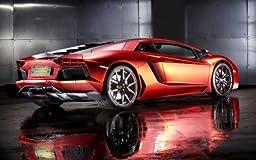 2013 Lamborghini Aventador By Print Tech 2 24X36 Poster Banner Photo