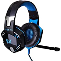 Megedream Update Version USB 3.5mm Gaming Headset KOTION EACH G2000 LED Light Game Mic Stereo Bass Headphone Earphone...