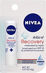 Nivea Lip Care SPF 15 A Kiss of Recovery Medicated Lip Care, 6 Count