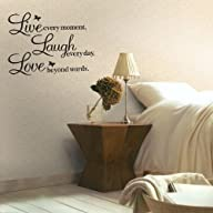 Meco Vinyl Decal Live Every Moment, L…