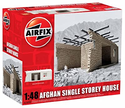 Airfix A75010 Afghan Single Storey House Model Building Kit, 1:48 Scale