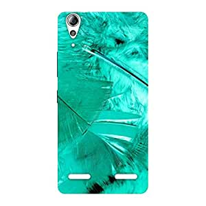 Feather Cyan Back Case Cover for Lenovo A6000 Plus