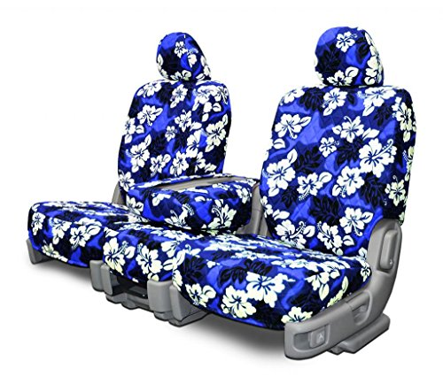 Custom Fit Seat Covers for Honda CR-V Front Low Back Seats - Blue Hawaiian Fabric (Blue Hawaiian Seat Covers compare prices)
