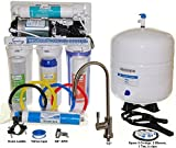 iSpring #RCC1P USA Top Brand 100 GPD 5-stage Reverse Osmosis Water Filter System with Booster Pump - 2:1 Waste Ratio