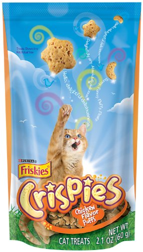 Image of Friskies Crispies Chicken Cat food, 2.10-Ounce (Pack of 10)