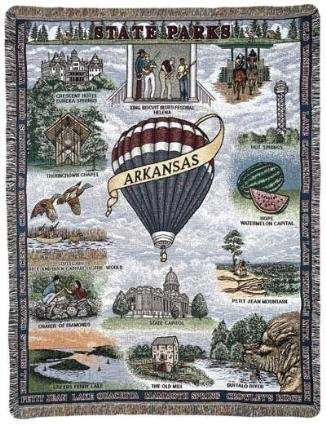 """State Of Arkansas"" Tapestry Throw Blanket 50"" X 60"" front-253931"