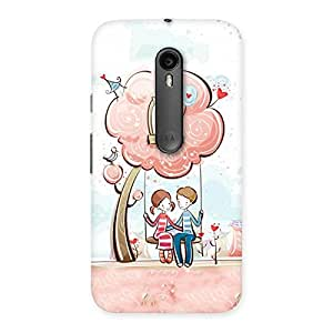Gorgeous Swing Love Multicolor Back Case Cover for Moto G Turbo