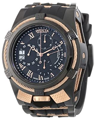 Invicta Men's 12677 Bolt Reserve Chronograph Black Textured Dial Black Silicone Watch