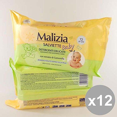 Set 12 MALIZIA Salv.Baby 72Pz Camomilla Detergenti per bambini