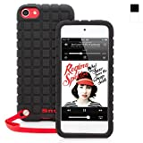 Snugg iPod Touch 5th Generation Silicone Rubber Black Case - Non-Slip Material, Protective and Soft to Touch for Apple iPod Touch 5 (5th Gen)