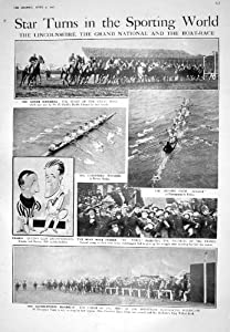 1925 GRAND NATIONAL HORSE RACING TAPIN CHANCE OXFORD BOAT RACE CATHEDRAL YPRES