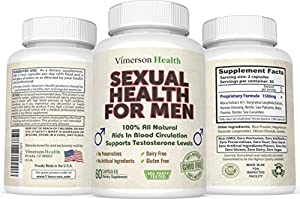 Sexual Health for Men 100% All Natural Testosterone Booster Non-Gmo for Male Enhancement, Extreme Strength, Libido, Power, Size, Endurance & Quality Performance. Premium Ultra Pure High Grade Formula