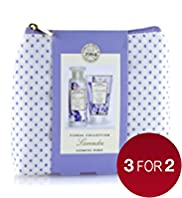 Floral Collection Lavender Cosmetic Purse Gift Set