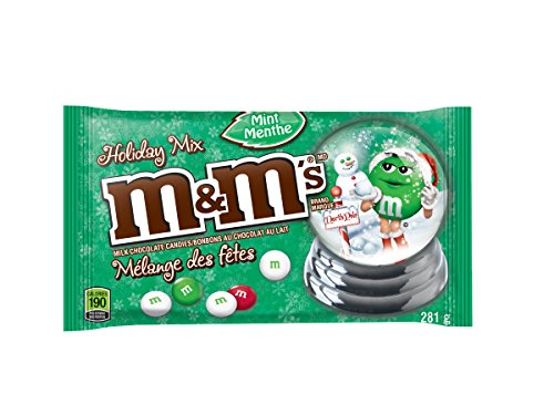 M&M's Mint Red and Green Christmas Laydown Bag Chocolate Pack, 281gm