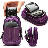 Navitech Purple Digital Camera Case Bag For The Samsung SMART CAMERA WB250F / WB800F / WB30F / ST150F / DV150F / WB150F / ST200F / WB850F / DV151F