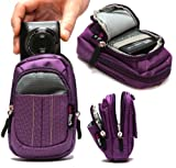 Navitech Purple Digital Camera Case Bag ForThe Canon IXUS 510 HS / 255 HS / 240 HS / 140 / 135