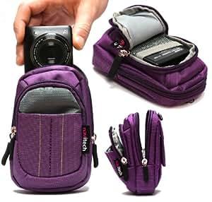Housse étui Navitech (violet) appareil photo numérique pour Sony Cyber Shot DSC-RX1R / DSC-RX1 / DSC-WX300 / DSC-WX200 / DSC-WX80 / DSC-WX60 / DSC-TX30 / DSC-TF1