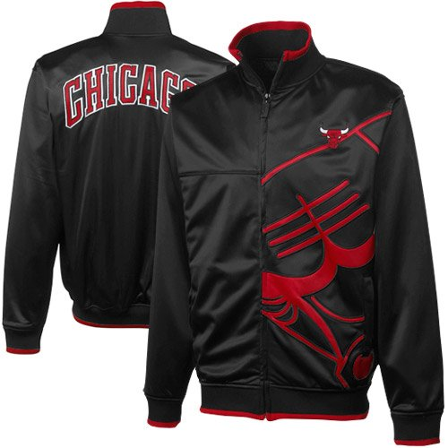NBA Chicago Bulls Vanguard Full Zip Track Jacket - Black (XX-Large) at Amazon.com