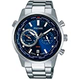 [セイコー パルサー]SEIKO PULSAR デュアルタイム GMT ワールドタイム世界時計 100m防水 メンズ 腕時計 PY7003 [並行輸入品]