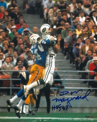 Don Maynard Autographed/Hand Signed New York Jets 8X10 Photo HOF 87 (jump catch) at Amazon.com