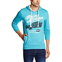 People Men's Cotton Sweatshirt (8903880795849_P10101358029224_Large_Turquoise)