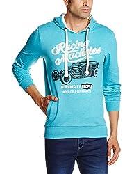 People Men's Cotton Sweatshirt (8903880795849_P10101358029224_Large_Turquoise)