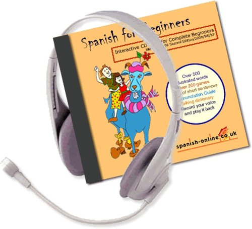 Spanish for Beginners CD-ROM + Logic 3 Headset