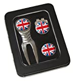 Asbri Golf Spirit Pitchfork & Cap Clip & Ballmarker in Tin Golf Gift Pack - UK