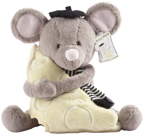 Baby Aspen Monsieur Le Squeak Plush Mouse And Blanket Gift Set Toy, Kids, Play, Children front-715214