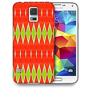 Snoogg Green Diamond Printed Protective Phone Back Case Cover For Samsung S5 / S IIIII