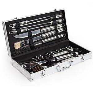 Tectake cuberter a de 18 piezas para barbacoa accesorios - Accesorios para barbacoas ...