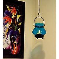 Blue Glass Tea Light Candle Holder – Medium Size