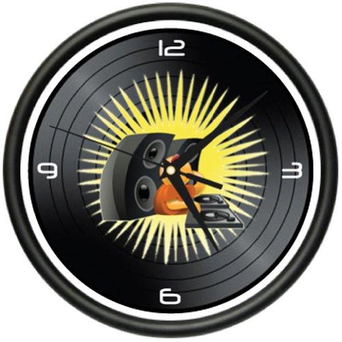 Dj Wall Clock Disc Jockey Turntable Mixer Record Gift