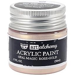 Prima Marketing 963620 Finnabair Art Alchemy Acrylic Paint, 1.7 fl. oz., Opal Magic Rose/Gold