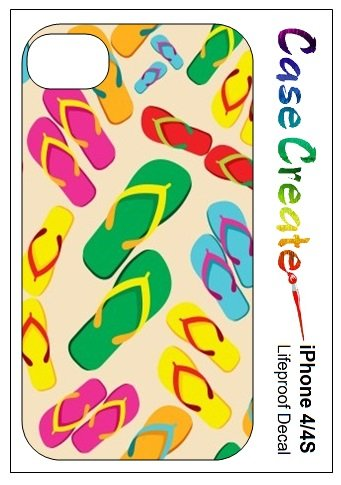 Flip Flops Sandals Decorative Sticker Decal For Your Iphone 5 5S Lifeproof Case front-491251