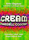 Cream's Farewell Concert [1969] [DVD] [1968] [Region 1] [US Import] [NTSC]