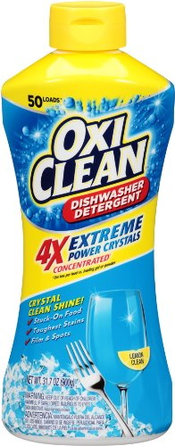Oxiclean Extreme Power Crystals Dishwasher Detergent, Lemon Clean, 50 Load, 31.7 Ounce
