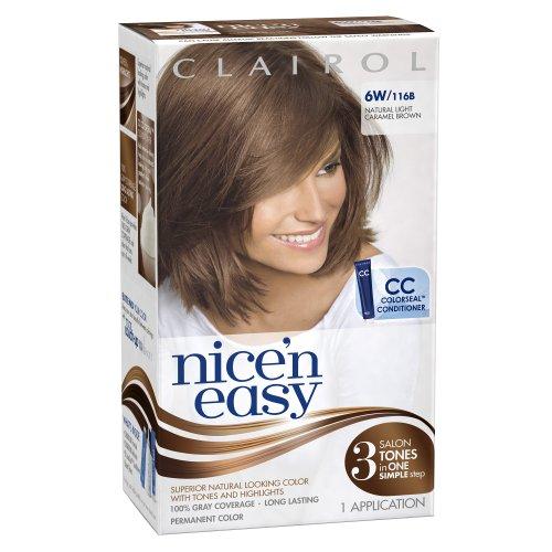 Clairol Nice 'N Easy Hair Color 116b Natural Light Caramel Brown 1 Kit