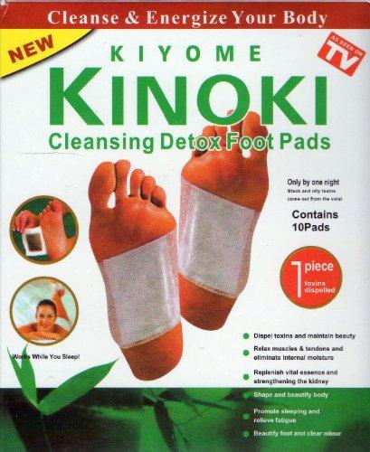10 Kinoki Foot Pads Fußpflaster Pflaster Vitalpflaster Neu DETOX Wellness Entgiftung Entschlackung