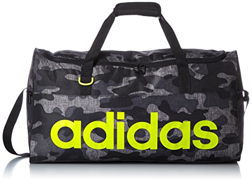 adidas borsa sportiva Teambag Graphic Linear Performance, Grigio (Black/Semi Solar Slime), S