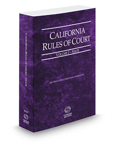 california-rules-of-court-state-2015-ed-vol-i-california-court-rules-california-rules-of-court-state
