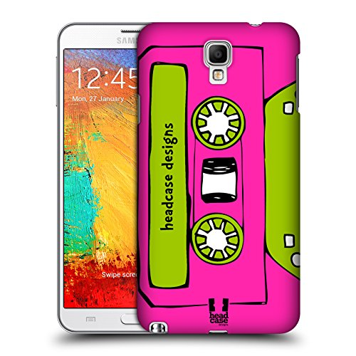 Head Case Designs Magenta Mixtapes Protective Snap-on Hard Back Case Cover for Samsung Galaxy Note 3 Neo N7505