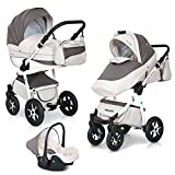 3in1 Kombi Kinderwagen Mondo Ecco Baby Leder Version Alu Tech