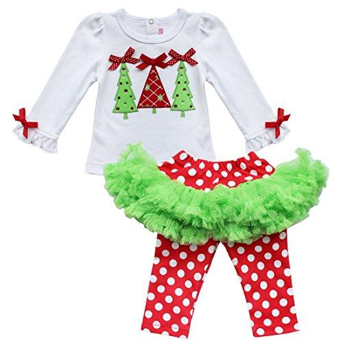 Iiniim baby girl 39 s christmas tree top polka dots tutu for Where can i buy a red christmas tree