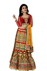 Multicolor Net And Silk Lehenga Choli