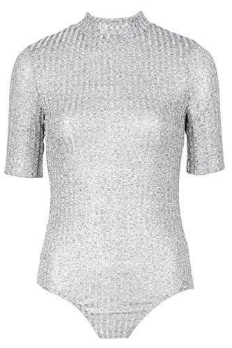 ladies-metallic-cotele-body-manches-courtes-eur-taille-36-42-eur-40-uk-12-argent