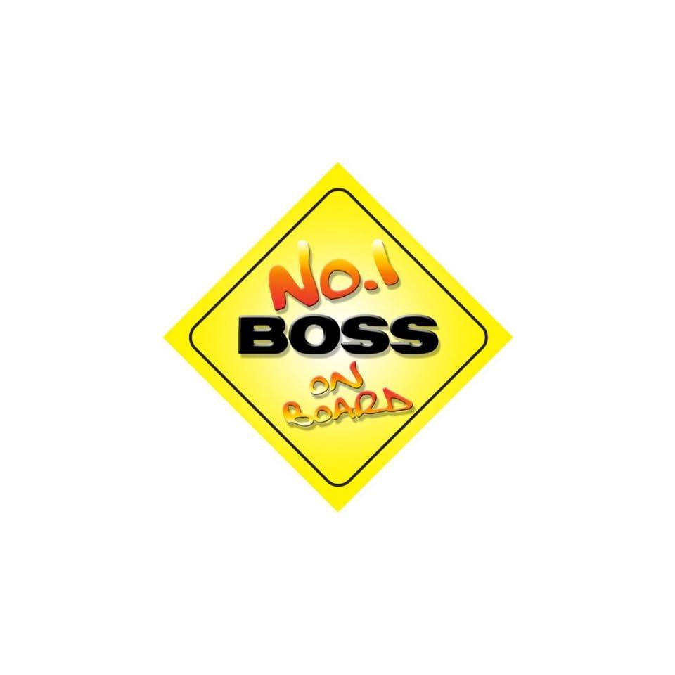 No.1 Boss on Board Novelty Car Sign New Job / Promotion / Novelty Gift / Present