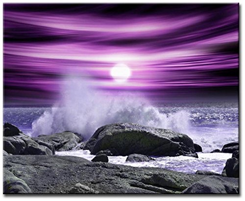 Grepova Art - Size Single Canvas 1x54x39cm Abstract Canvas Wall Art Quality Prints Contemporary Digital Art WICK PURPLE (54 X 39 Frame compare prices)