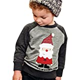 Sikye Cute Kids Boy Winter Christmas Tops Outwear Pullover Sweatshirt Warm Coat Baby Clothes Set