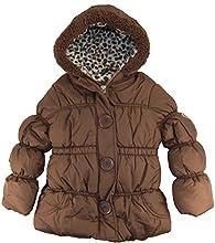 Pink Platinum Little Girls39 Toddler Cheetah Lining Puffer Winter Jacket Coat